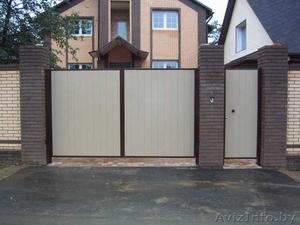 Забор (профлист МП20, штакетник). Ворота распашные.  - Изображение #1, Объявление #1362432