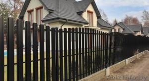 Забор (профлист МП20, штакетник). Ворота распашные.  - Изображение #2, Объявление #1362432