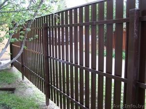 Ворота распашные. Калитки. Забор из профлиста. - Изображение #4, Объявление #1362435