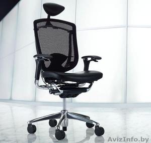 Кресло руководителя OKAMURA CONTESSA  спинка/сетка, сидение/кожа  - Изображение #1, Объявление #1600976
