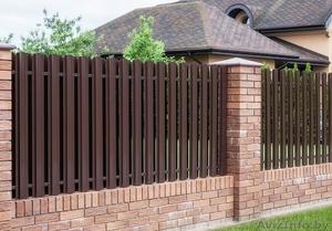 Забор (профнастил). Штакетник металлический. Ворота. - Изображение #5, Объявление #1377407