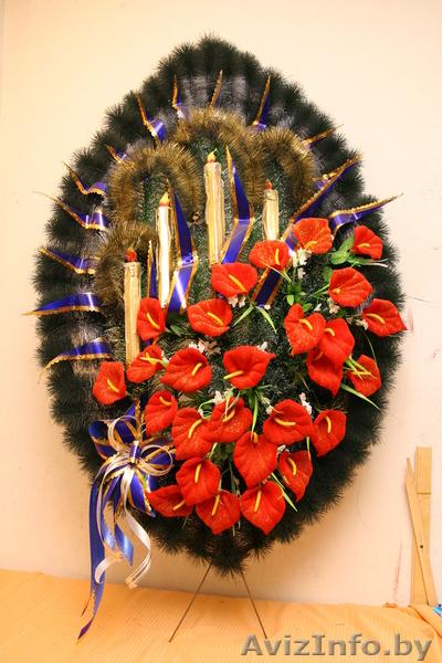 Изготовление похоронных венков