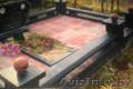 Светлое ритуальное благоустройство  из искусственного мрамора